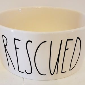 Rae Dunn Rescued dog or cat bowl
